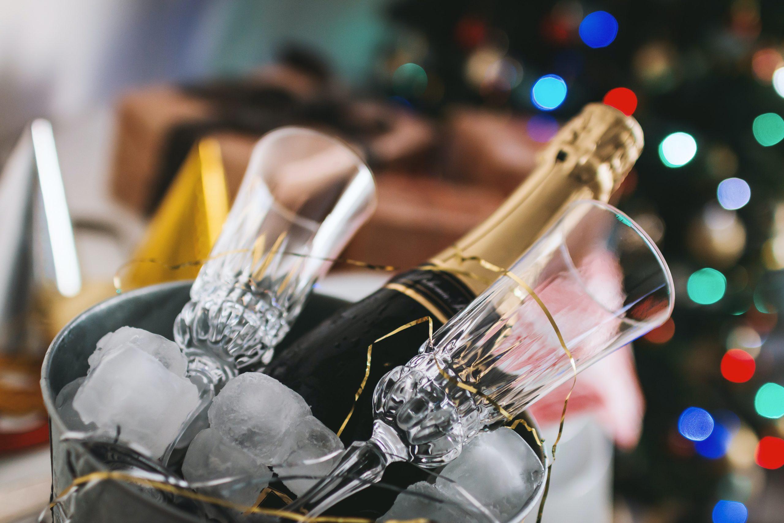 Champagne pour les fêtes de fin d'année